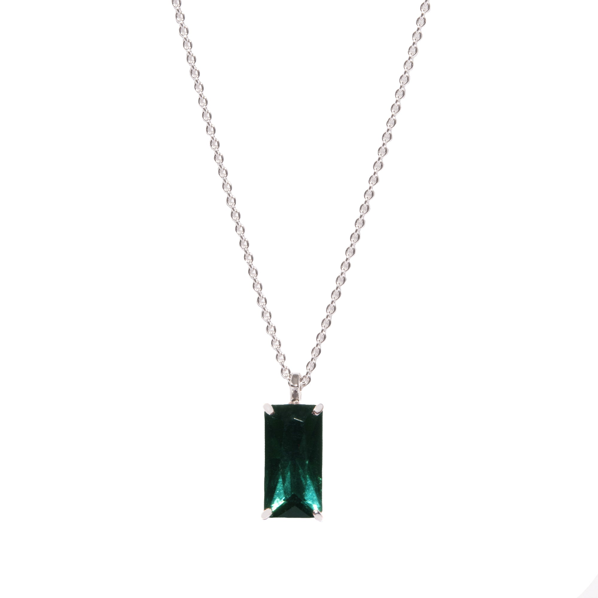pendent besemeh pendant products color emerald bead multi image stone cz with necklace