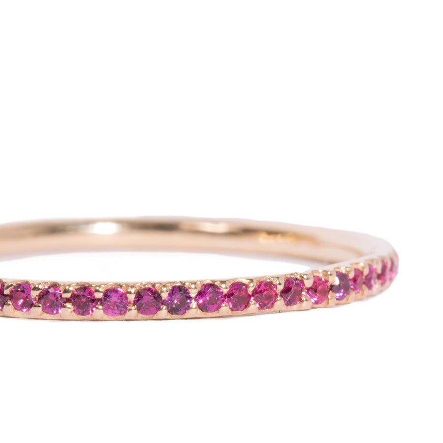 Micro Pave Colored Stone Infinity Band Ring