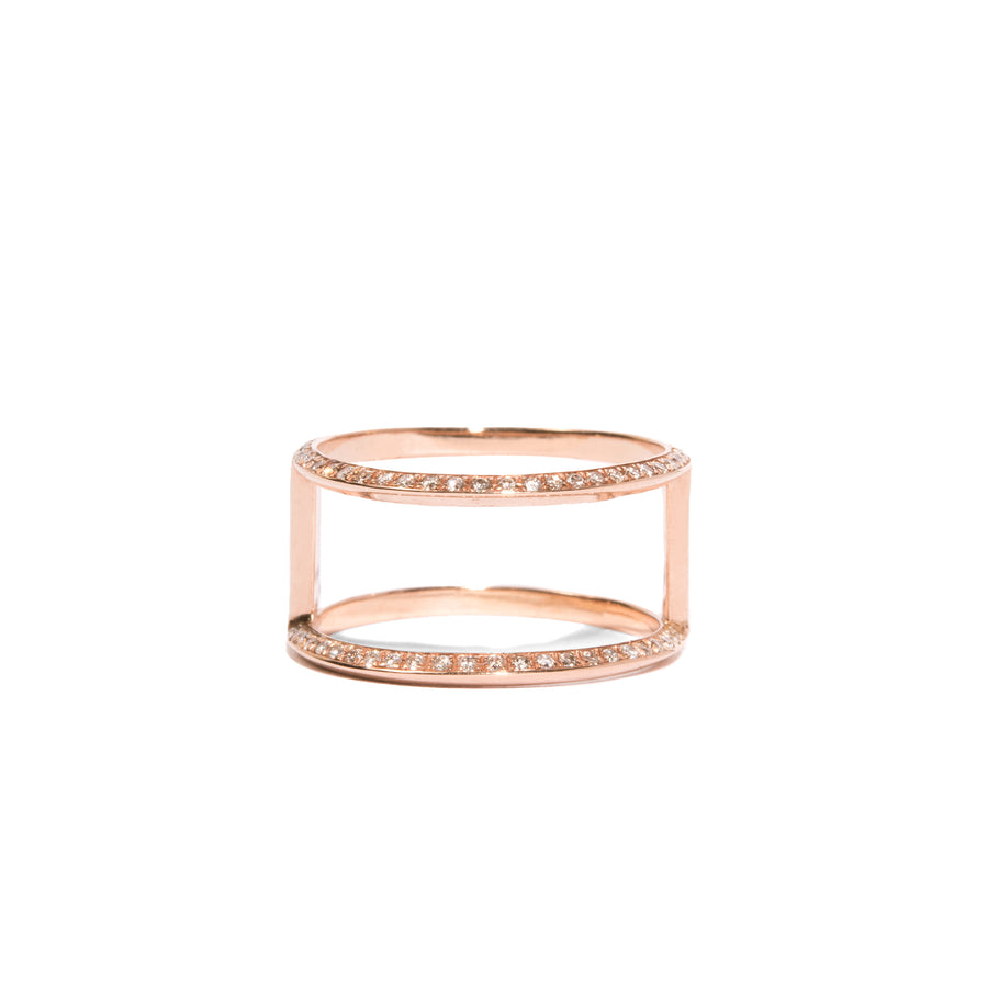 Micro Pave Knife Edge Double Orbit Ring