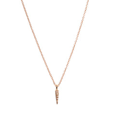 Micro Pave Small Downward Pyramid Spike Necklace