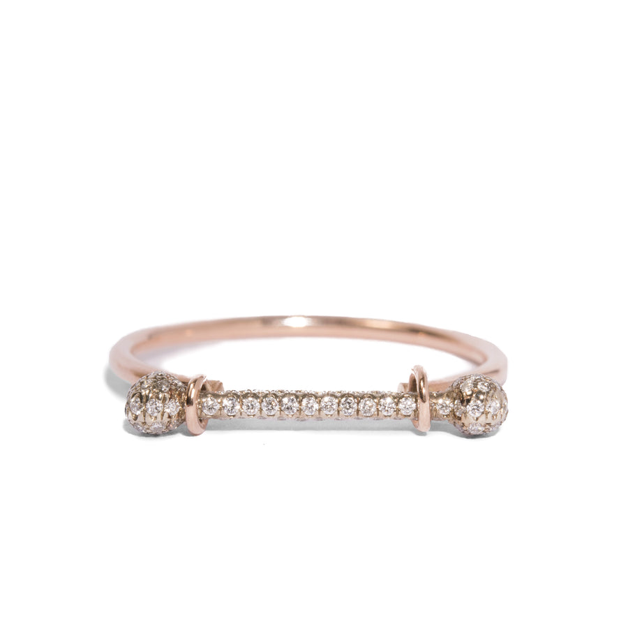 Barbell Ring w. Micro Pave Barbell