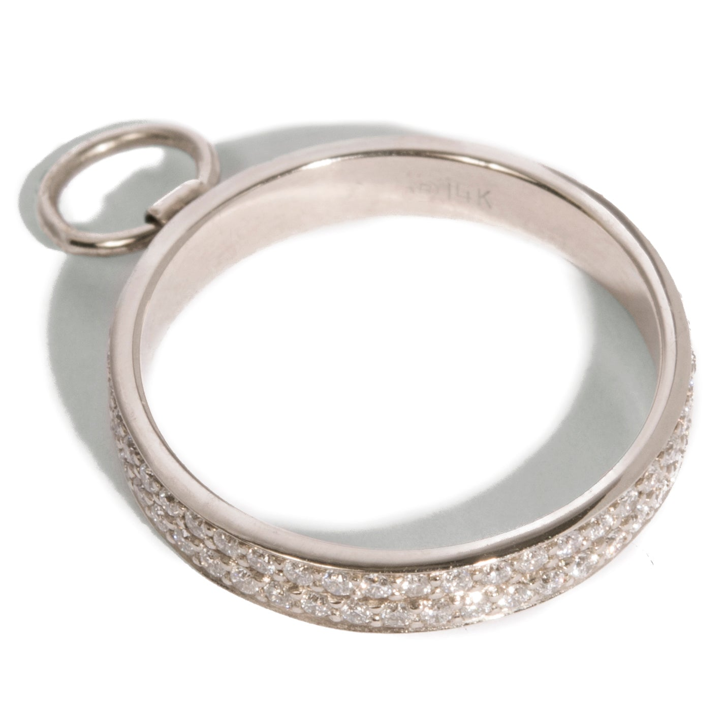 3mm Bondage Ring w. Double Micro Pave Bands