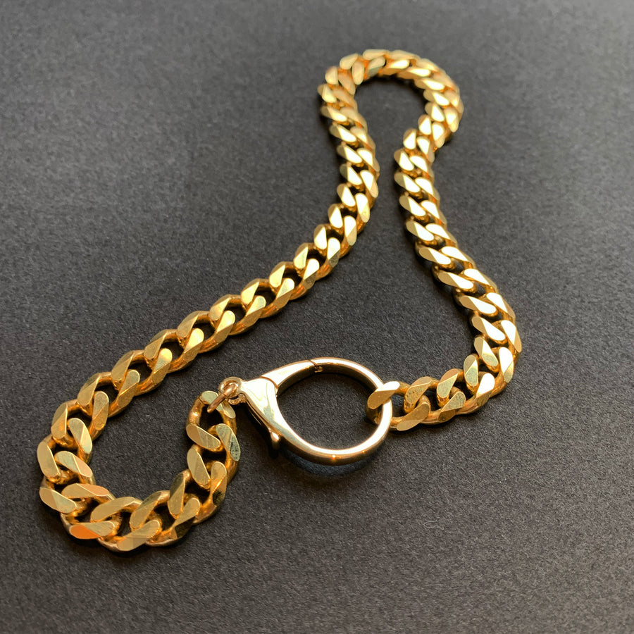 Cuban Link Chain 14k Solid Gold