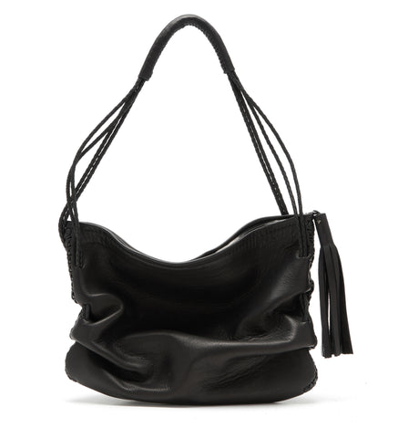 Athena Ruche Bag Black Leather Wendy Nichol Handbag Purse Designer Handmade in NYC Should Bag