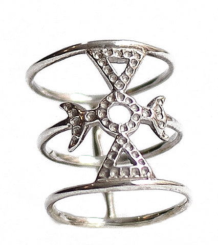 Micro-Pave Link Ring