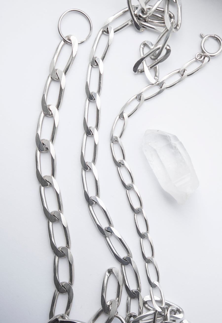 Elongated 9mm Curb Chain Necklace