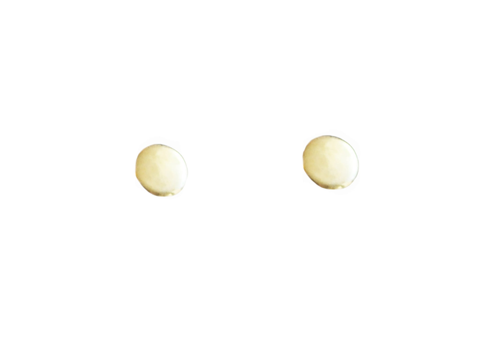 Circle Shape Stud Earrings Wendy Nichol Fine Jewelry Designer 14k Gold Sterling Silver Simple delicate Geometric studs