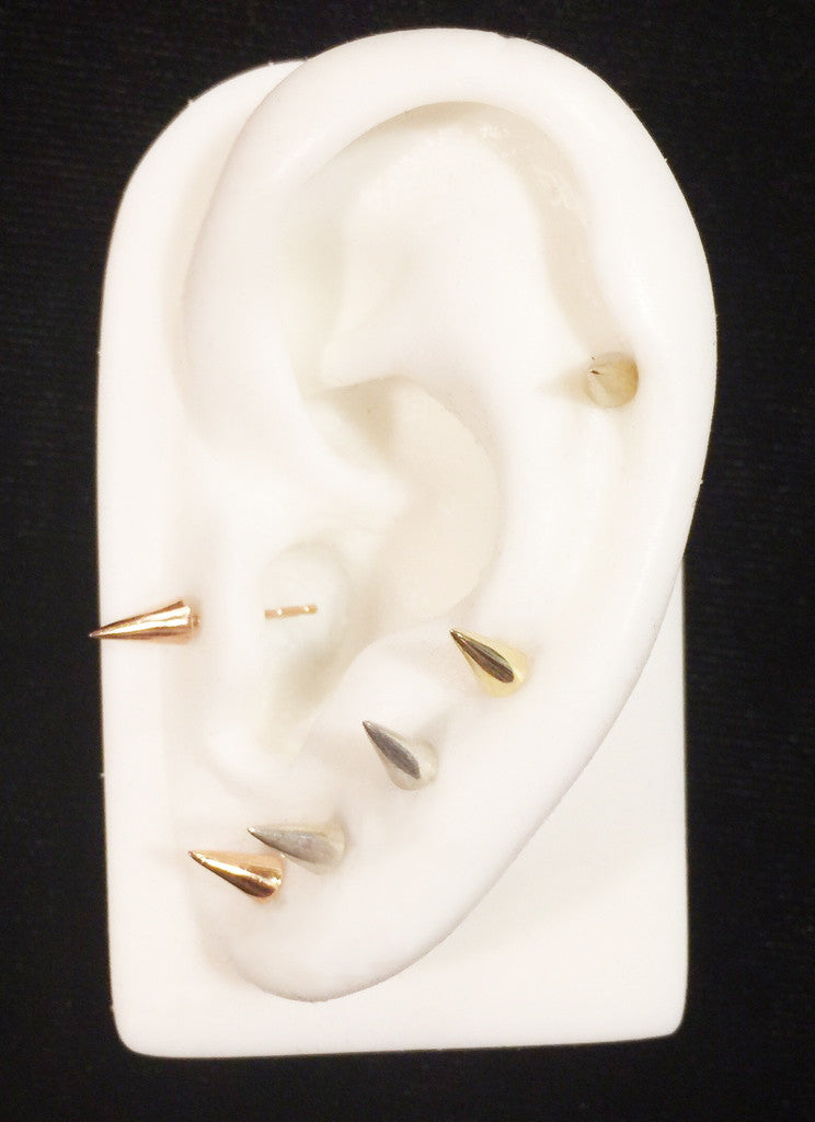 Spike Cone Stud Earrings Wendy Nichol Fine Jewelry Simple Delicate Punk Studs Designer 14k Gold Sterling Silver