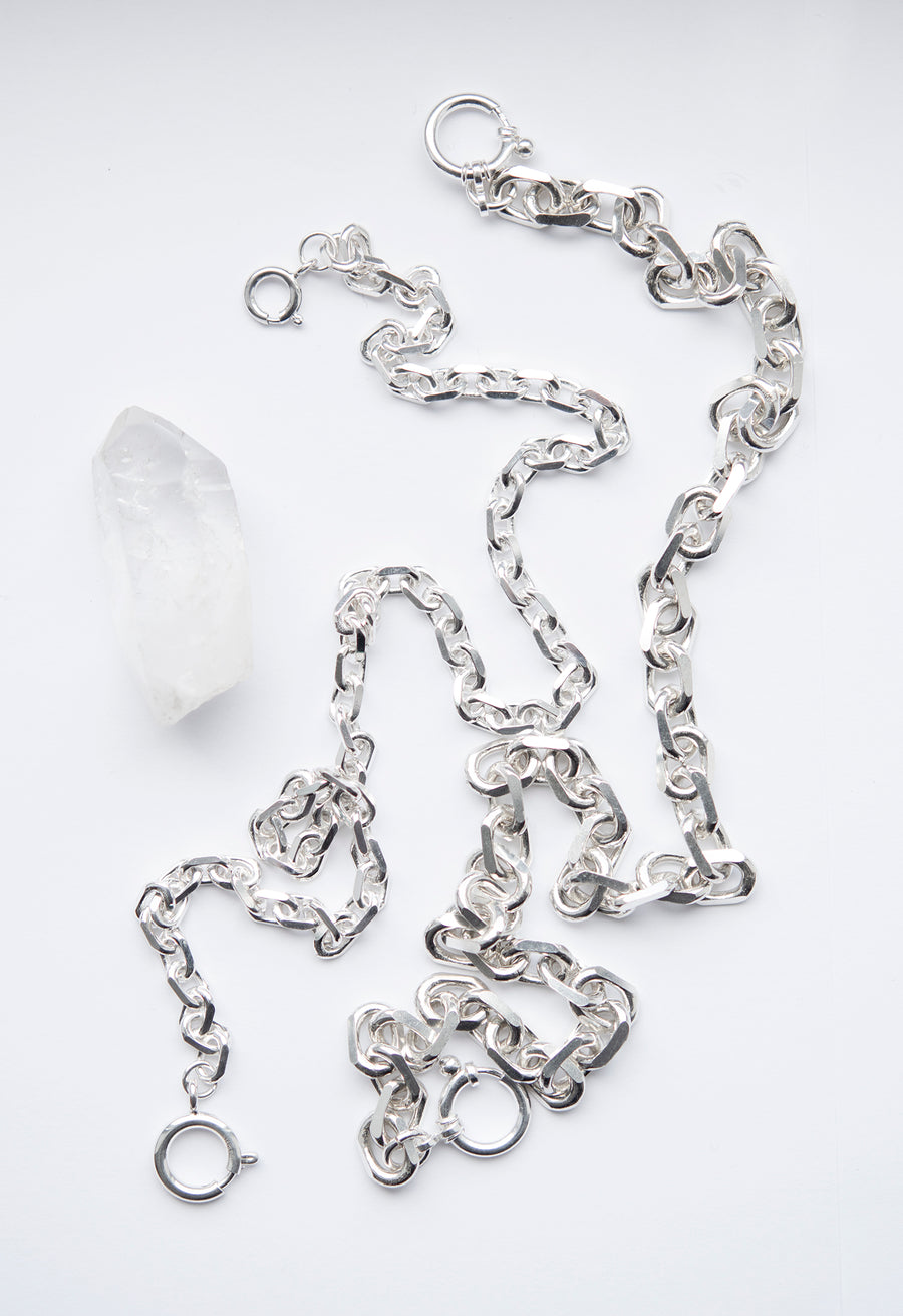 Diamond Cut 7.5mm Chain Necklace