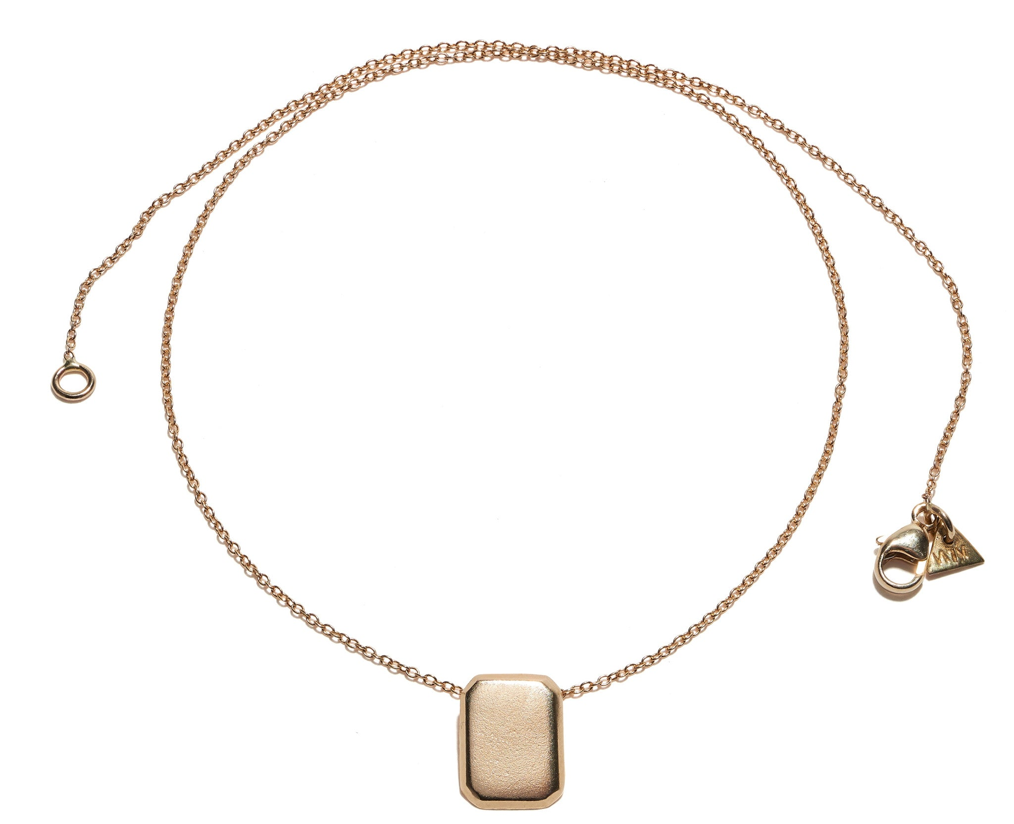 yellow delicatigoldpendant rectangle products gold necklace marco delicati li y bicego pendant flat bead