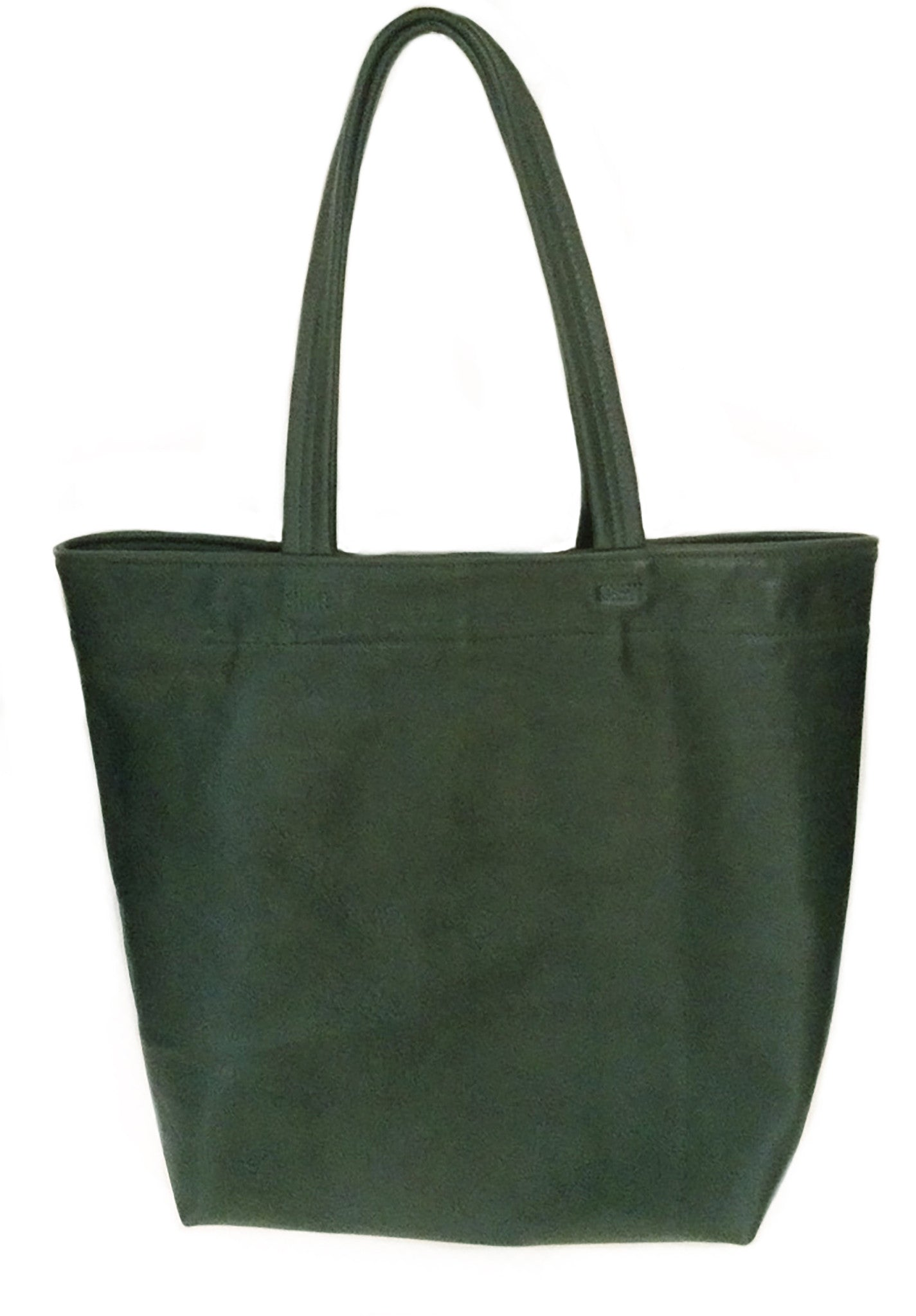 Billy Kid Dark Green Leather Tote Wendy Nichol Handbag Purse Bag Designer Handmade in NYC New York City strong Durable shoulder strap Interior pocket High Quality soft Leather