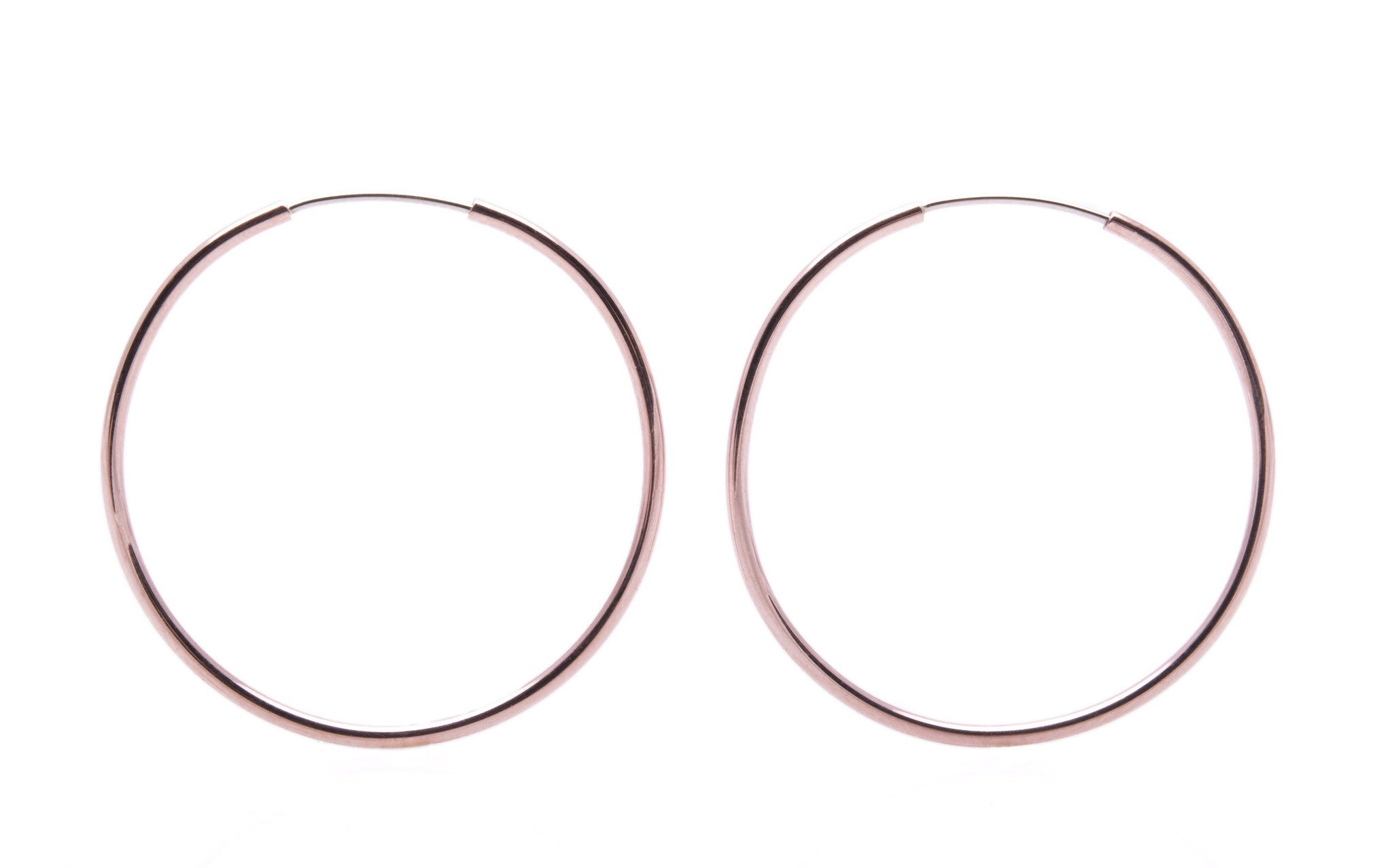 35mm Hard Wire Hoop Hoops Large Wendy Nichol Fine Jewelry Designer Handmade in NYC solid 14k Yellow Rose White Gold