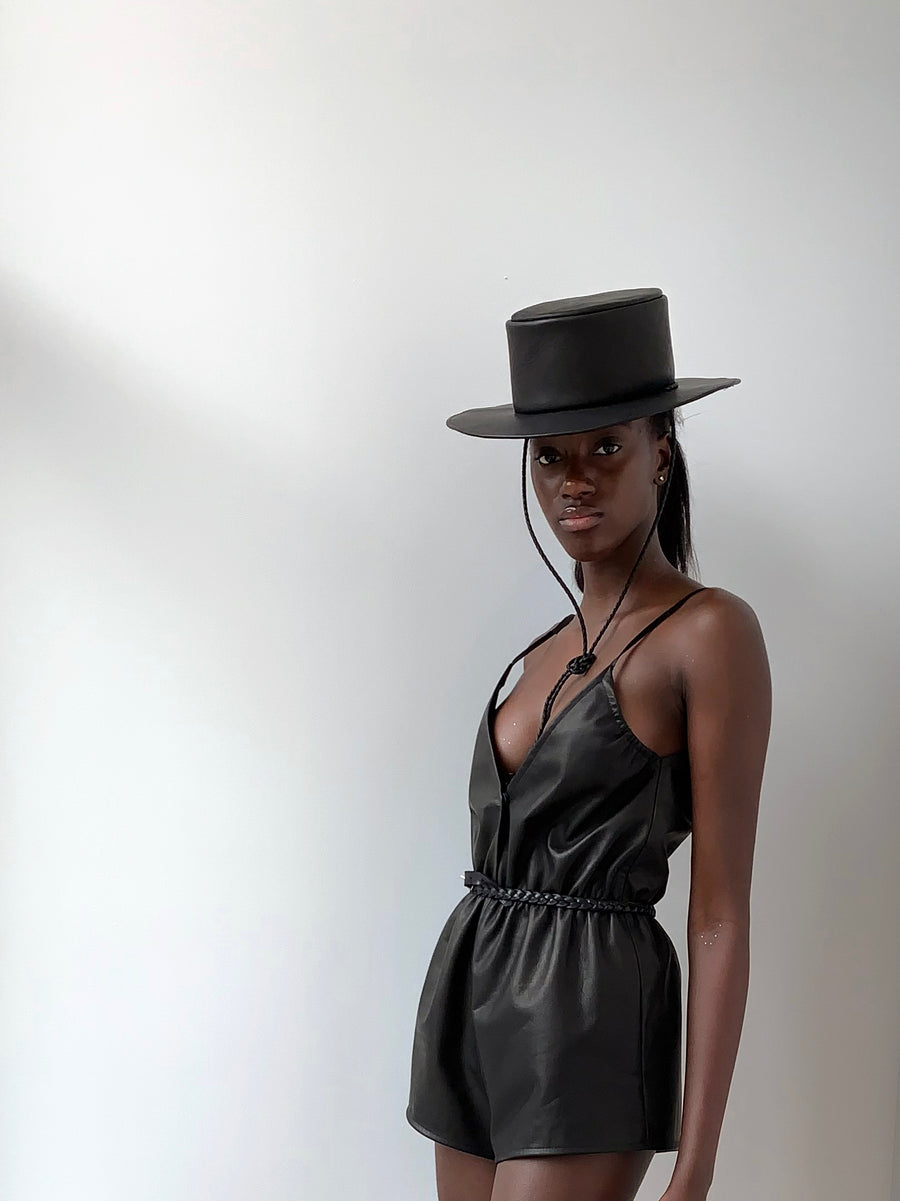 Gondola Leather Tassel Hat