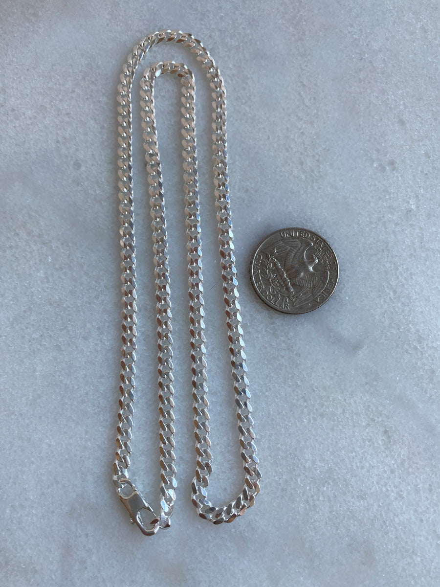 Cuban Link 4.6mm Sterling Silver Chain Necklace