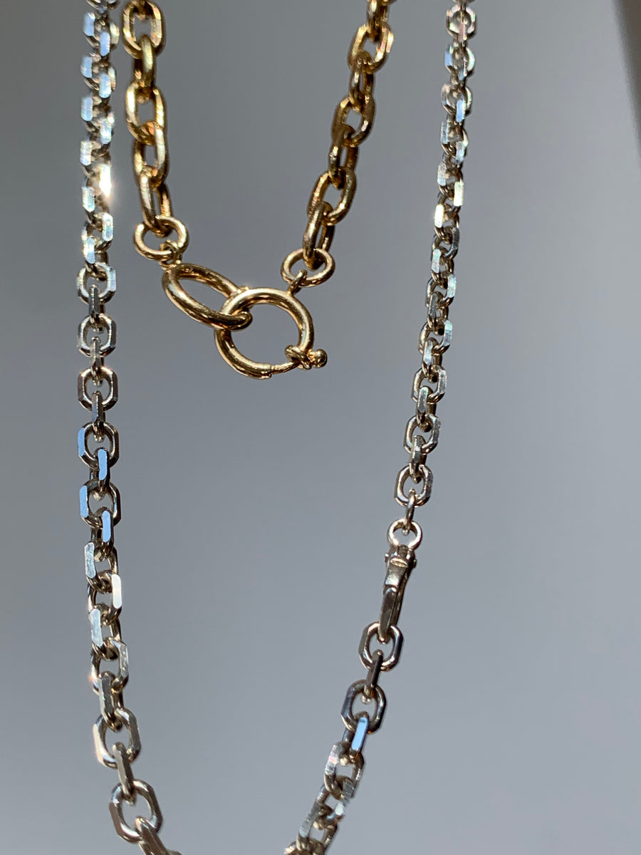 5.8mm Elongated Hollow 14k Gold Chain Necklace