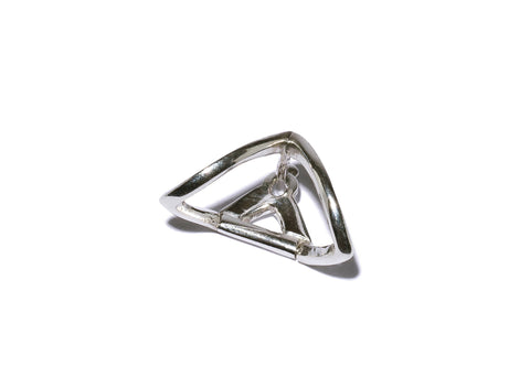 Curved Triangle Wrap Ear Cuff Earring Wendy Nichol Fine Jewelry Designer Sterling Silver or 14k Gold Simple Delicate Wrap Ribbon Orbit Cuff Piercing Snug Upper Lobe Helix Orbital