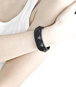 Leather Seven Pyramids Cuff Wendy Nichol Bracelet Handmade in NYC