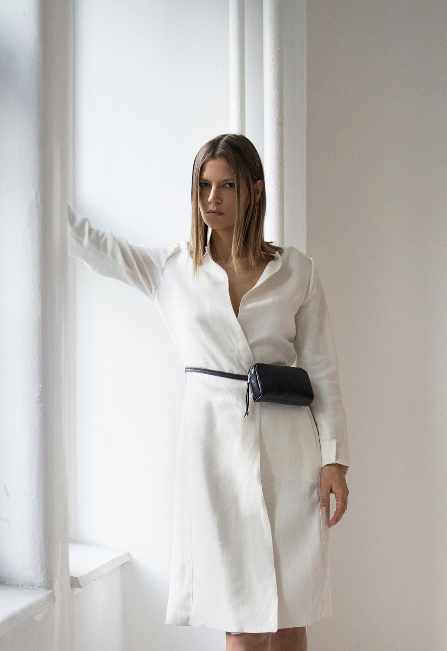 White Linen Shell Coat