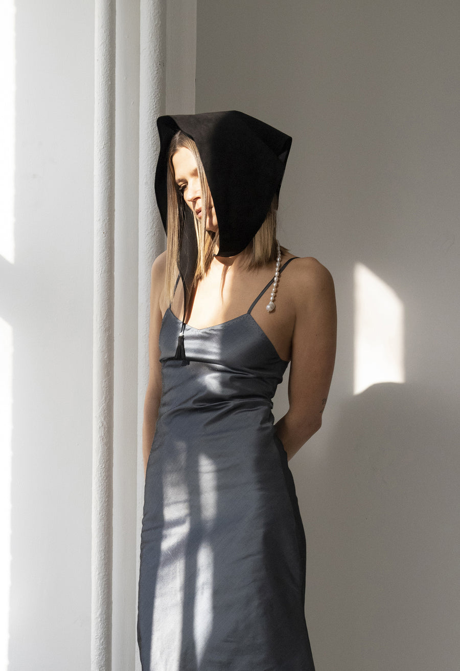 Raw Silk Bias Cut Slip Dress