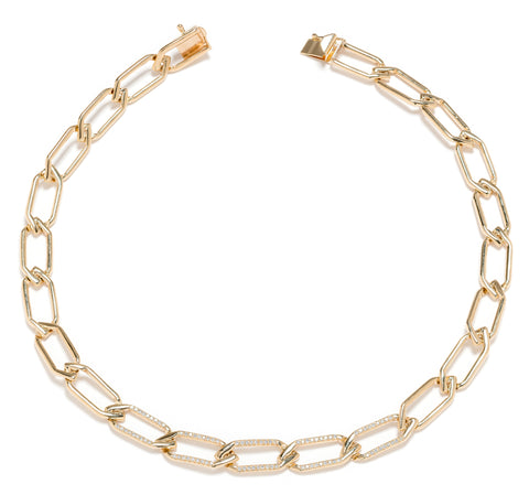 Wendy Nichol Chain Choker Necklace Chain Link Solid Sterling Silver 14k Gold