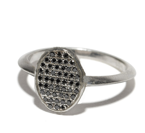 Bondage Ring w. Micro Pave Knocker