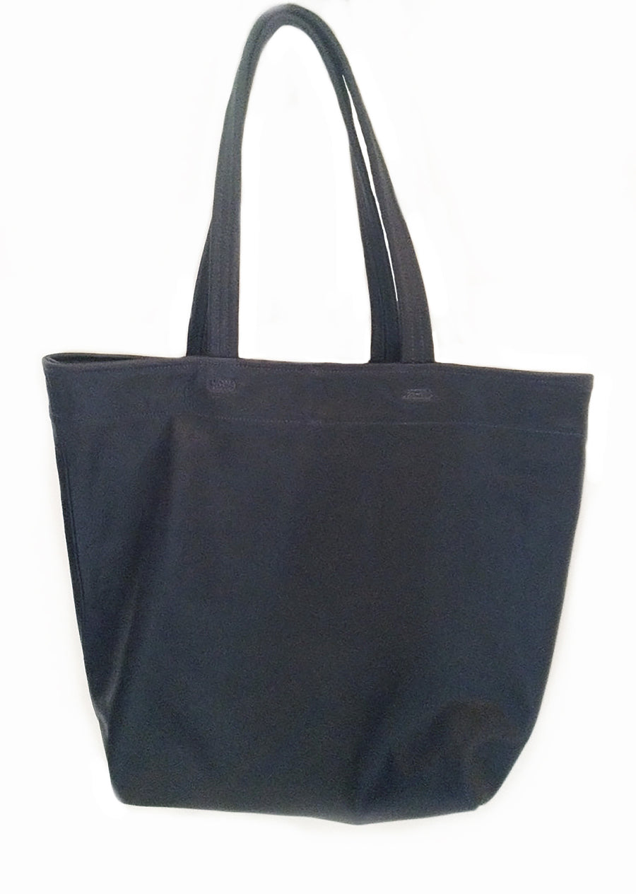 Billy Kid Navy Dark Blue Leather Tote Wendy Nichol Handbag Purse Bag Designer Handmade in NYC New York City strong Durable shoulder strap Interior pocket High Quality soft Leather