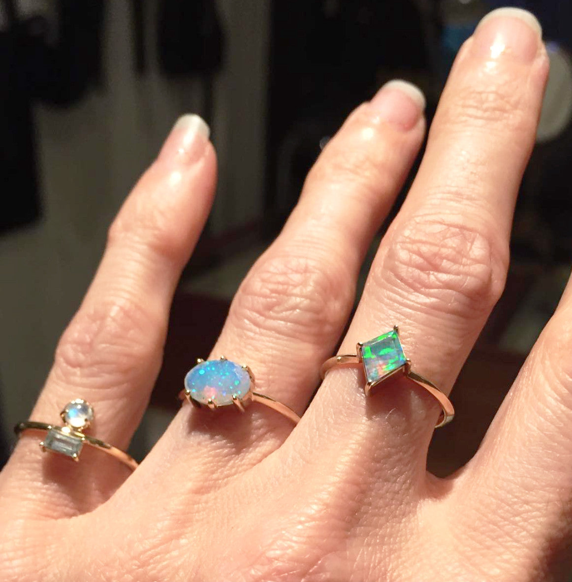 Opal Oval Shape Ring Wendy Nichol Fine Jewelry Designer 14k Gold