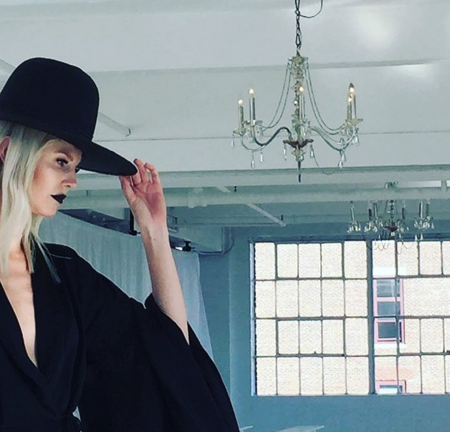Black Straw Tall Wide Brim Hat Wendy Nichol Designer Handmade in NYC New York City Witch El Topo Magician Summer Hat Ragnhild IMG Model Beyonce Formation Hat