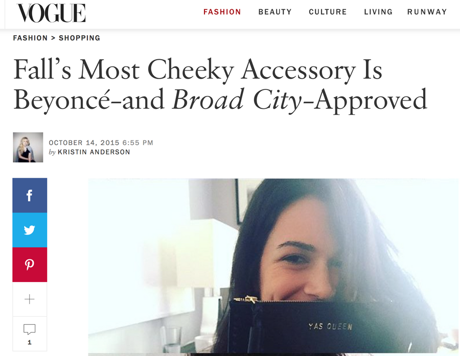 YAS QUEEN Abbi Jacobson Broad City Vogue Vogue.com Wendy Nichol Fall's Most Cheeky Accessory is Beyonce and Broad City Approved Leather Large Laced Clutch Pouch Custom Embossed Initial Letter Monogram Card Phone Wallet Clutch Wendy Nichol Designer Purse handbags Handmade in NYC New York City Zip Zipper Pouch Smooth Black High Quality Leather Fringe Tassel Gold Silver Foil YAS QUEEN FUCK YES FUCK YEAH FUCK YOU FUCK NO FUCK OFF