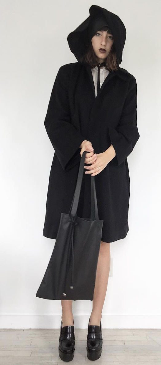 Lightweight Cowhide Leather Canvas Tote Wendy Nichol Handbag Purse Designer Handmade in NYC New York City Light Soft High Quality Black Leather Durable Thin Small Tote Bag