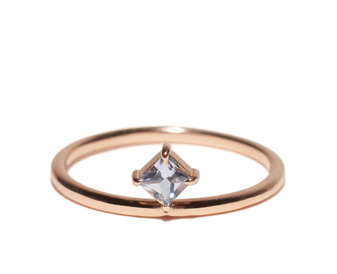 Micro-Pave Double Triangle Ring