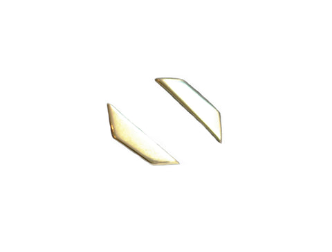 Trapezoid Shape Stud Earrings Wendy Nichol Fine Jewelry Designer 14k Gold Sterling Silver simple Geometric Studs