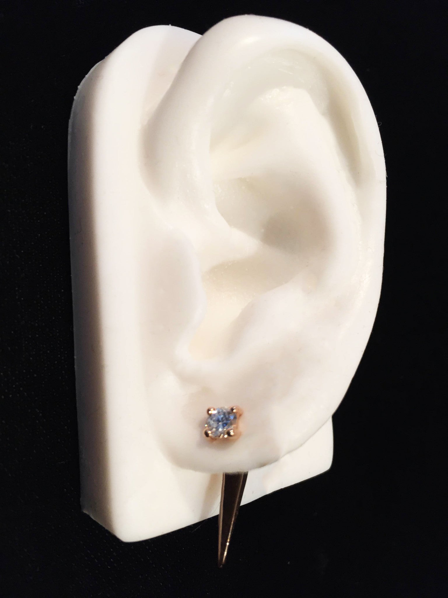 4mm White VS1 Clarity Diamond Wendy Nichol fine Jewelry Designer simple Studs 14k Gold Handmade in NYC