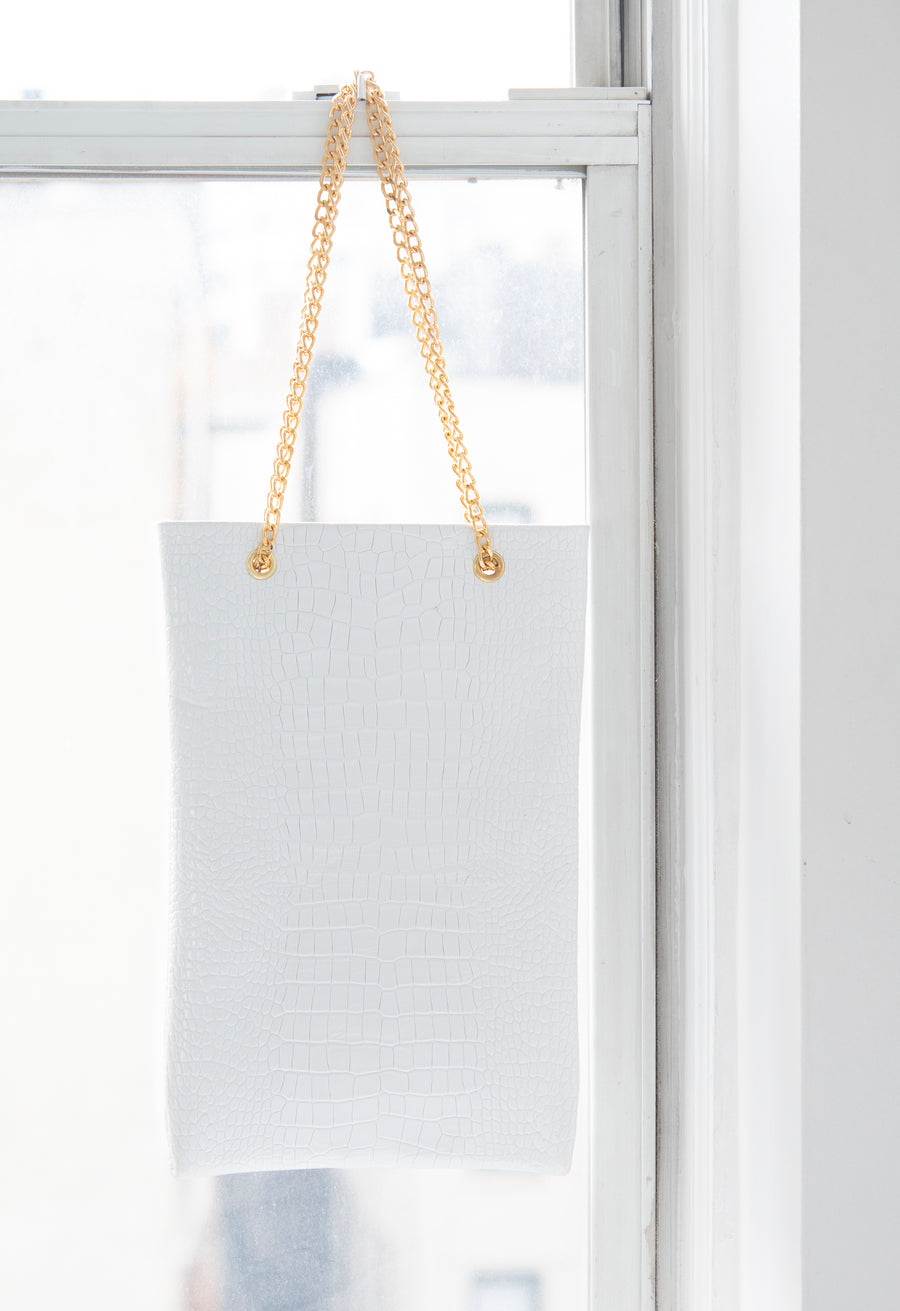 Embossed Croc Shop Tote