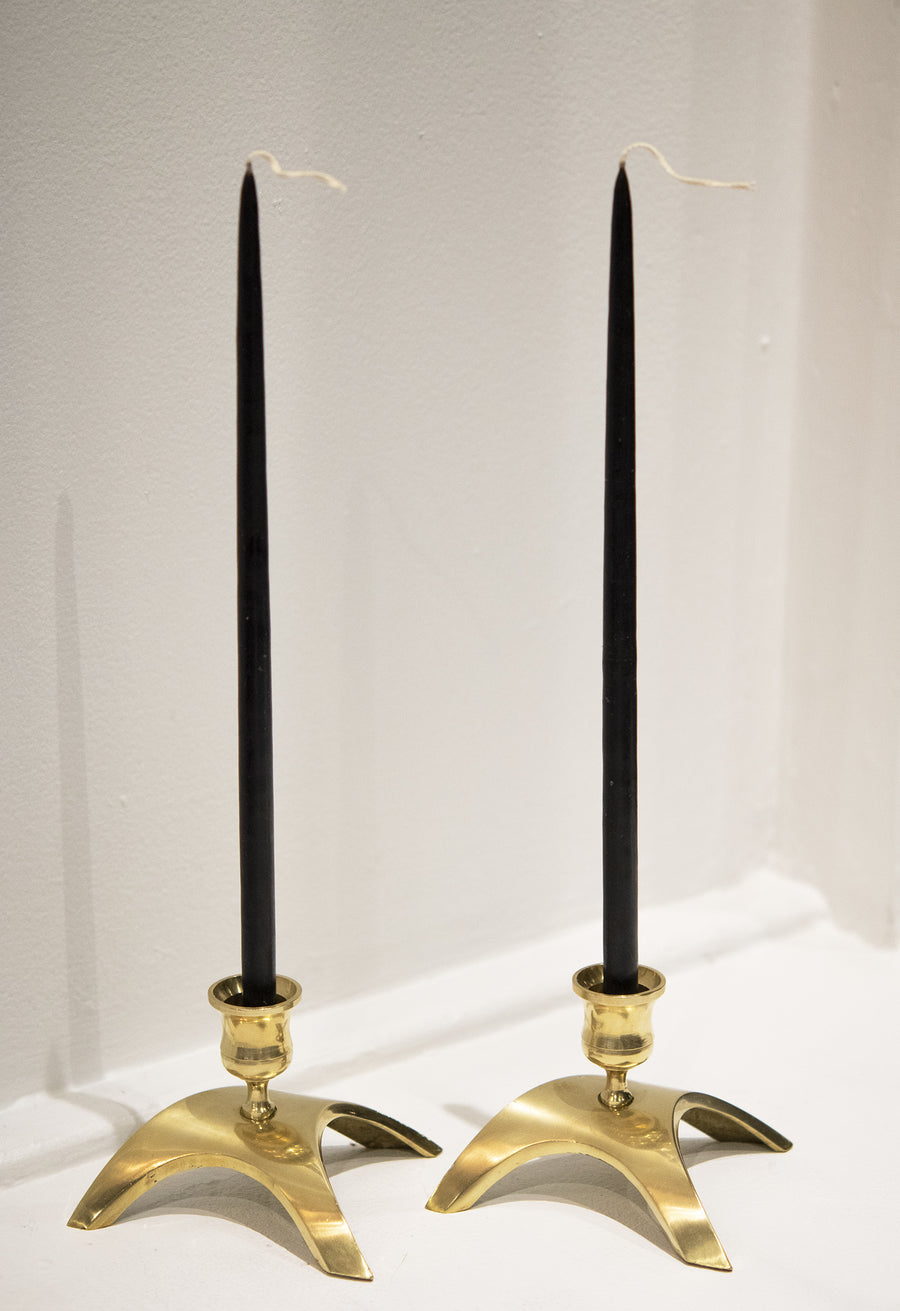 Vintage Brass Candlestick Holders