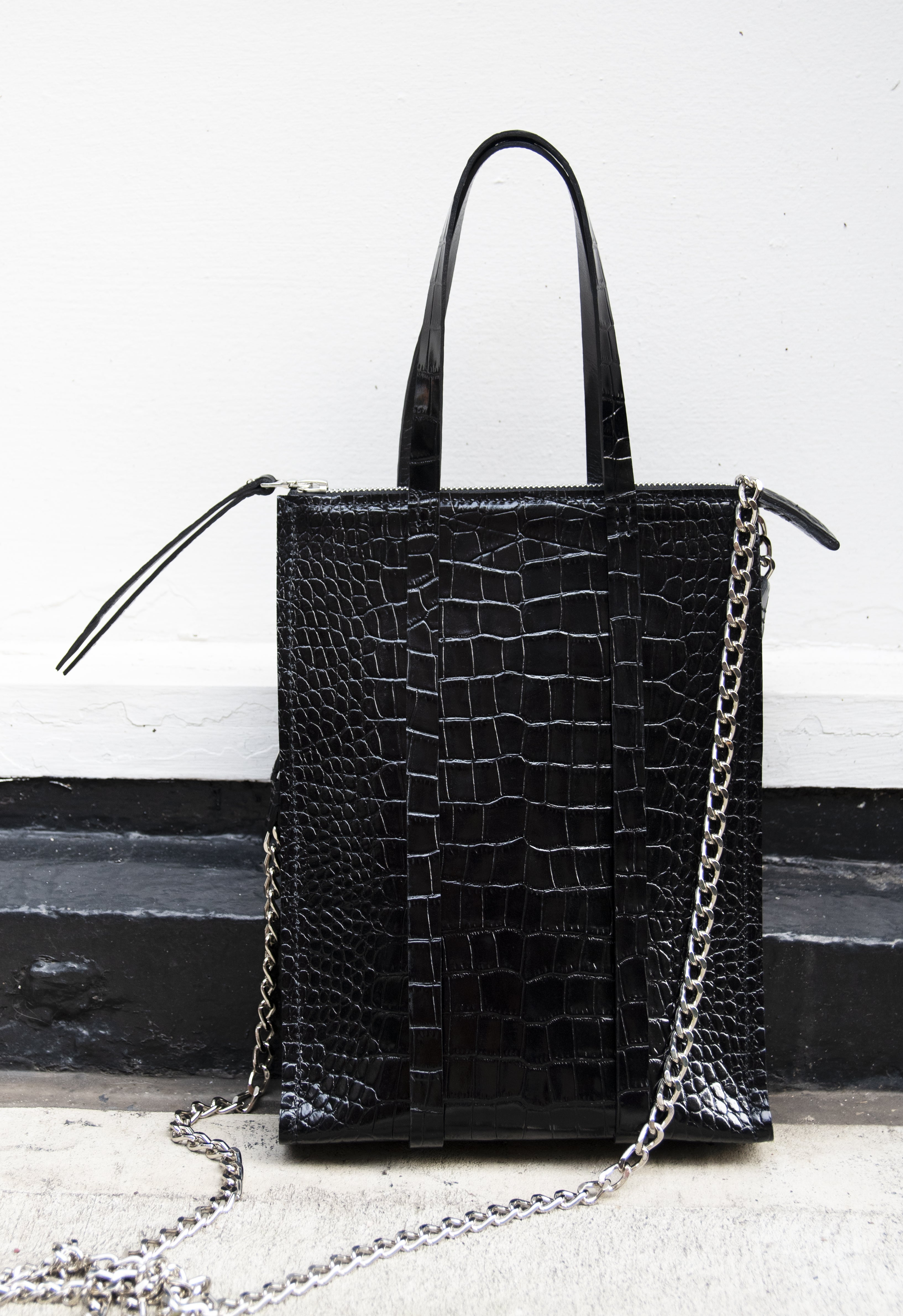 The Micro Chain Classified Tote