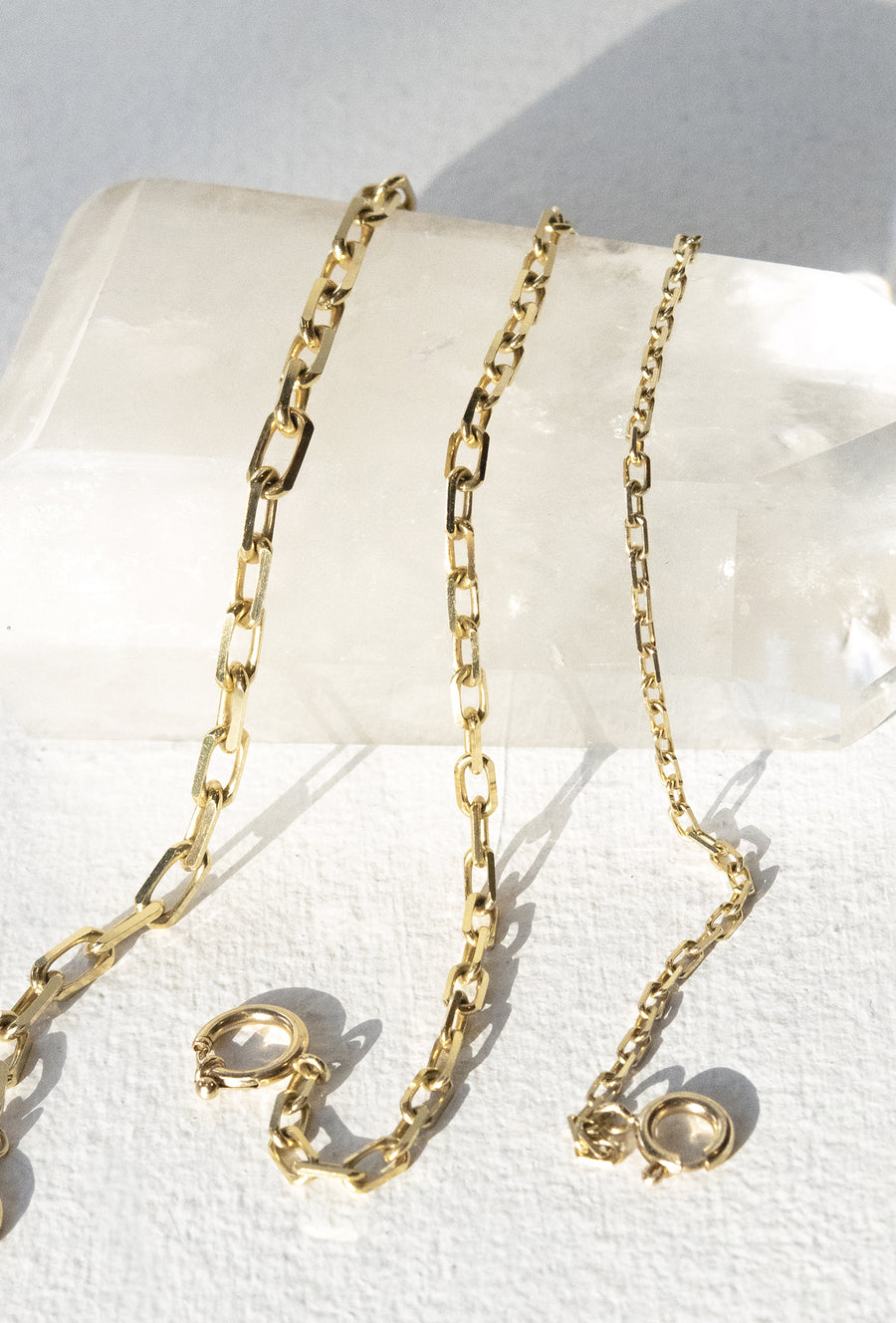 Elongated Diamond Cut Cable Chain 5.1mm 14k Gold Necklace