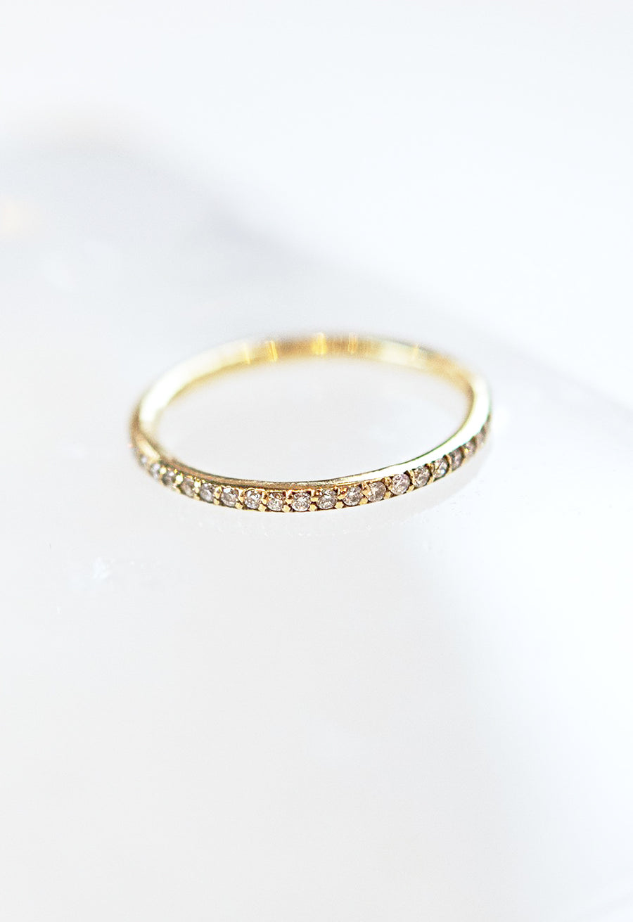Micro-Pave Diamonds Infinity Band Ring