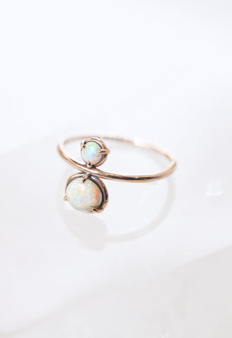 Thin Chain Pearl Ring