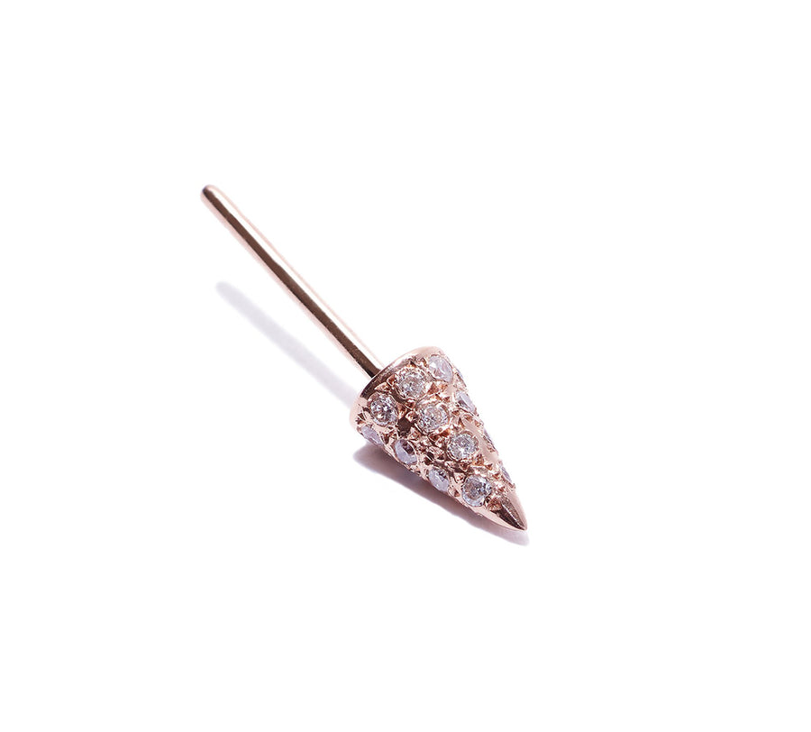 Micro Pave Spike Cone Single Stud