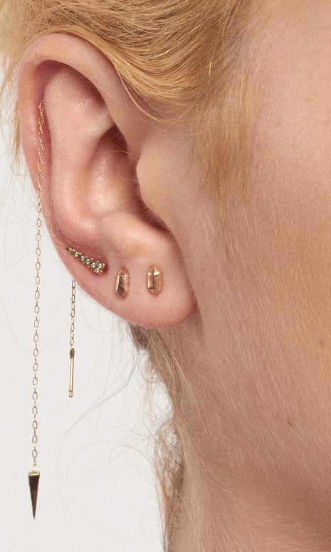 Gem Shape Stud Earring
