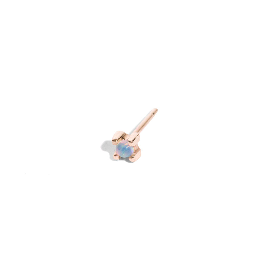 2mm Opal Stud Earring
