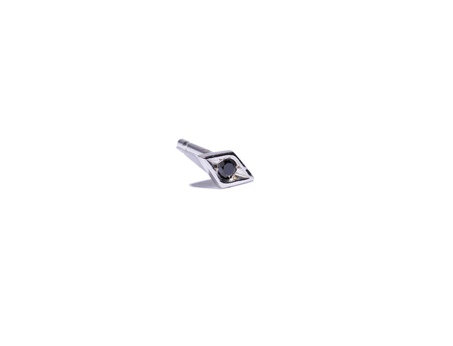Single Diamond Eye Stud Earring