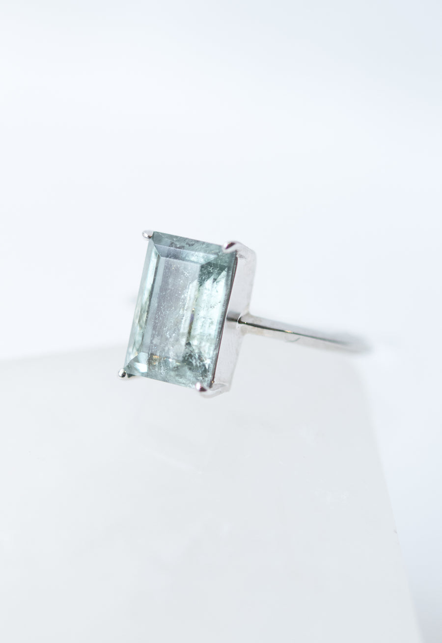 Emerald Cut Tourmaline Ring