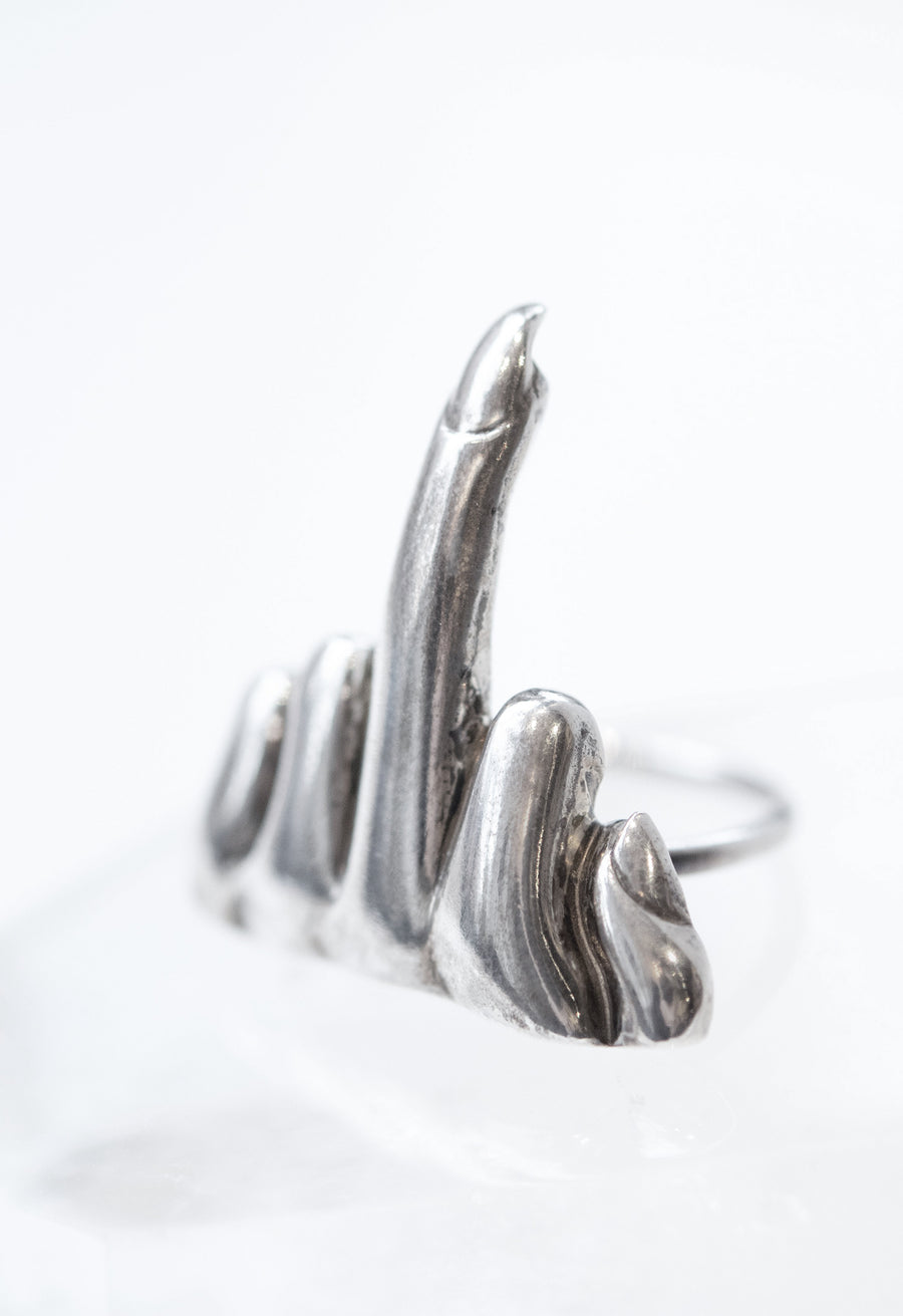 Large Middle Finger Ring