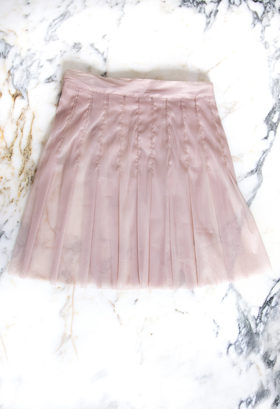 The Pleated Mini Skirt