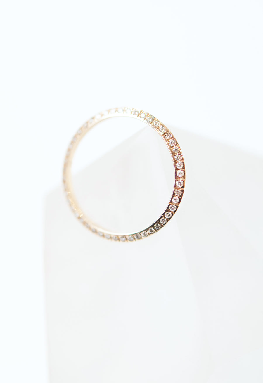 Micro Pave Knife Edge Single Thin Orbit Ring