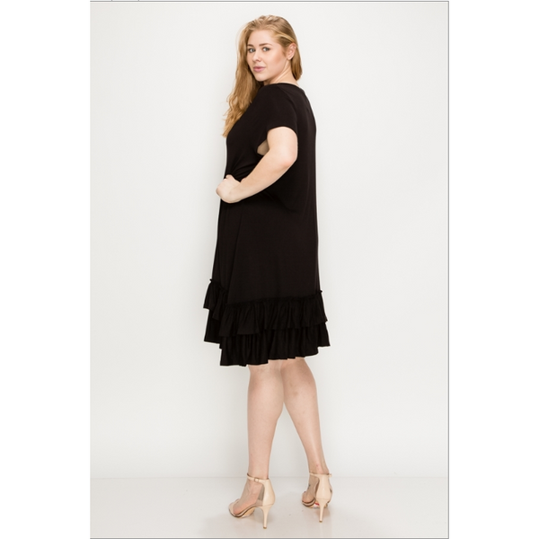 Plus Size- Marcelia Ruffle Dress