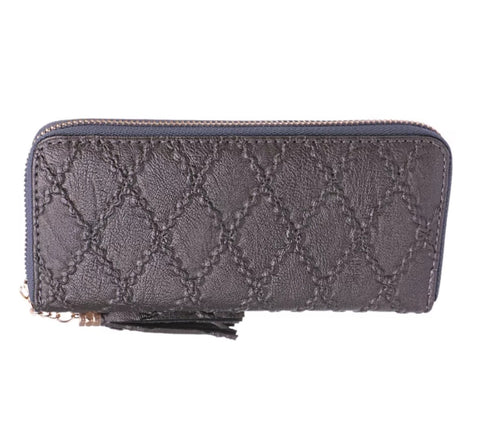 The FELICITY wallet - Metallic Grey