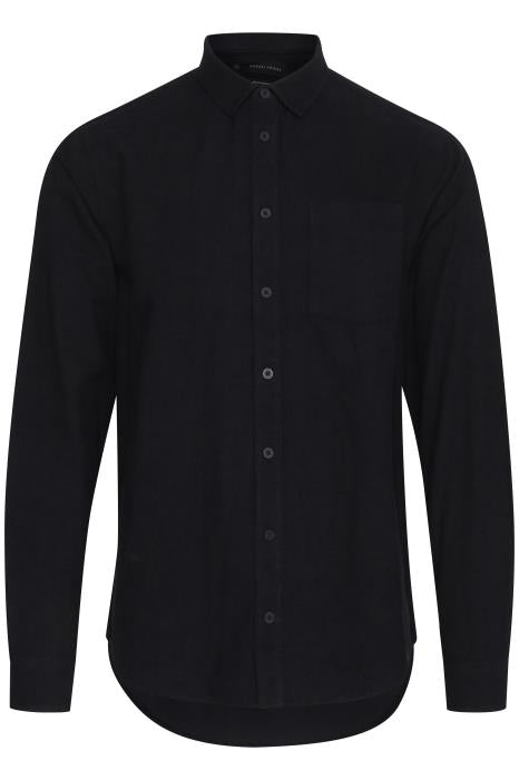Casual Friday Brushed Overshirt - Black